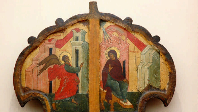 Zoom ... & Iconostasis. Part 1. Local rank. The royal doors. Annunciation. St ...