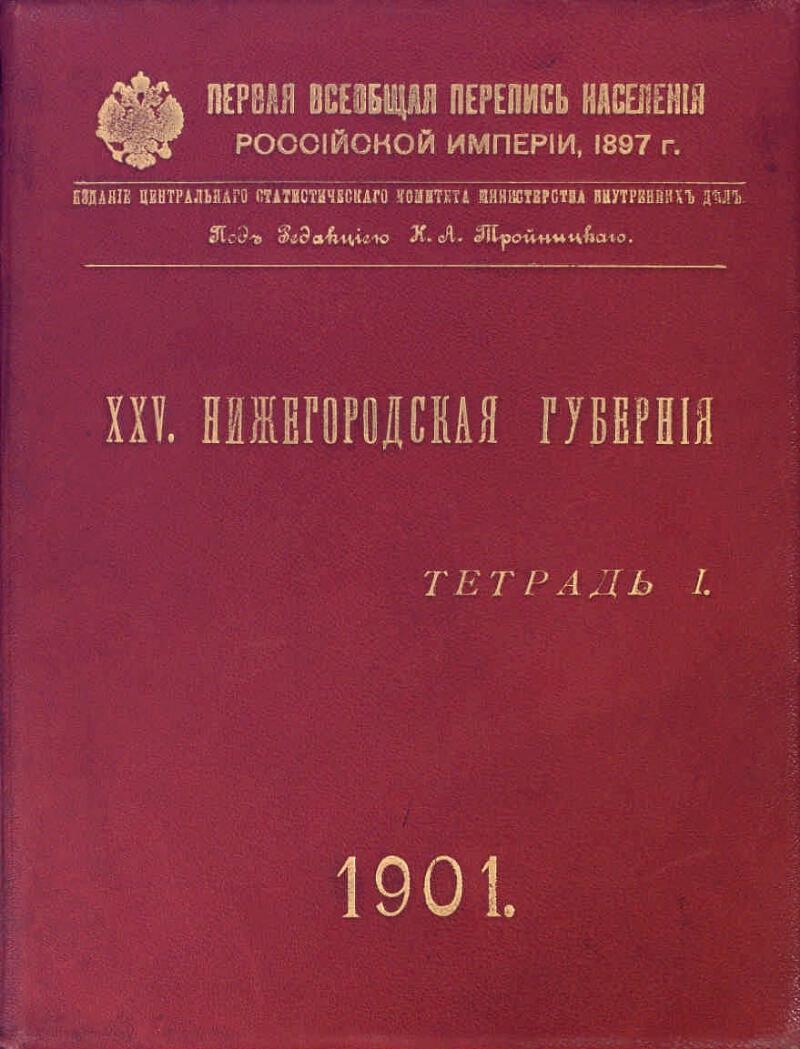 ПЕРЕПИСЬ 1897 ПОФАМИЛЬНО НИЖЕГОРОДСКАЯ ГУБЕРНИЯ СКАЧАТЬ БЕСПЛАТНО